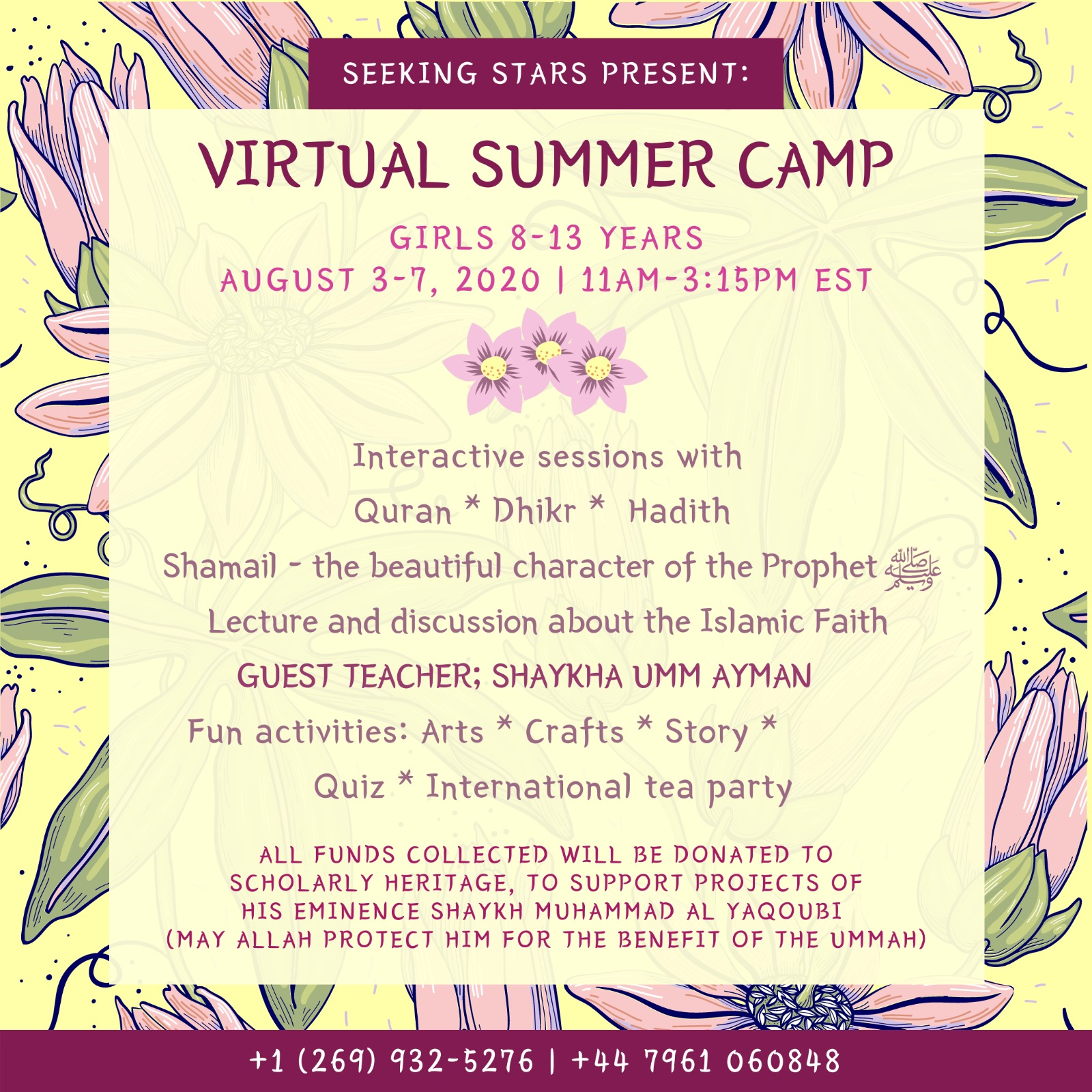 Read more about the article Virtual Summer Camp 2020