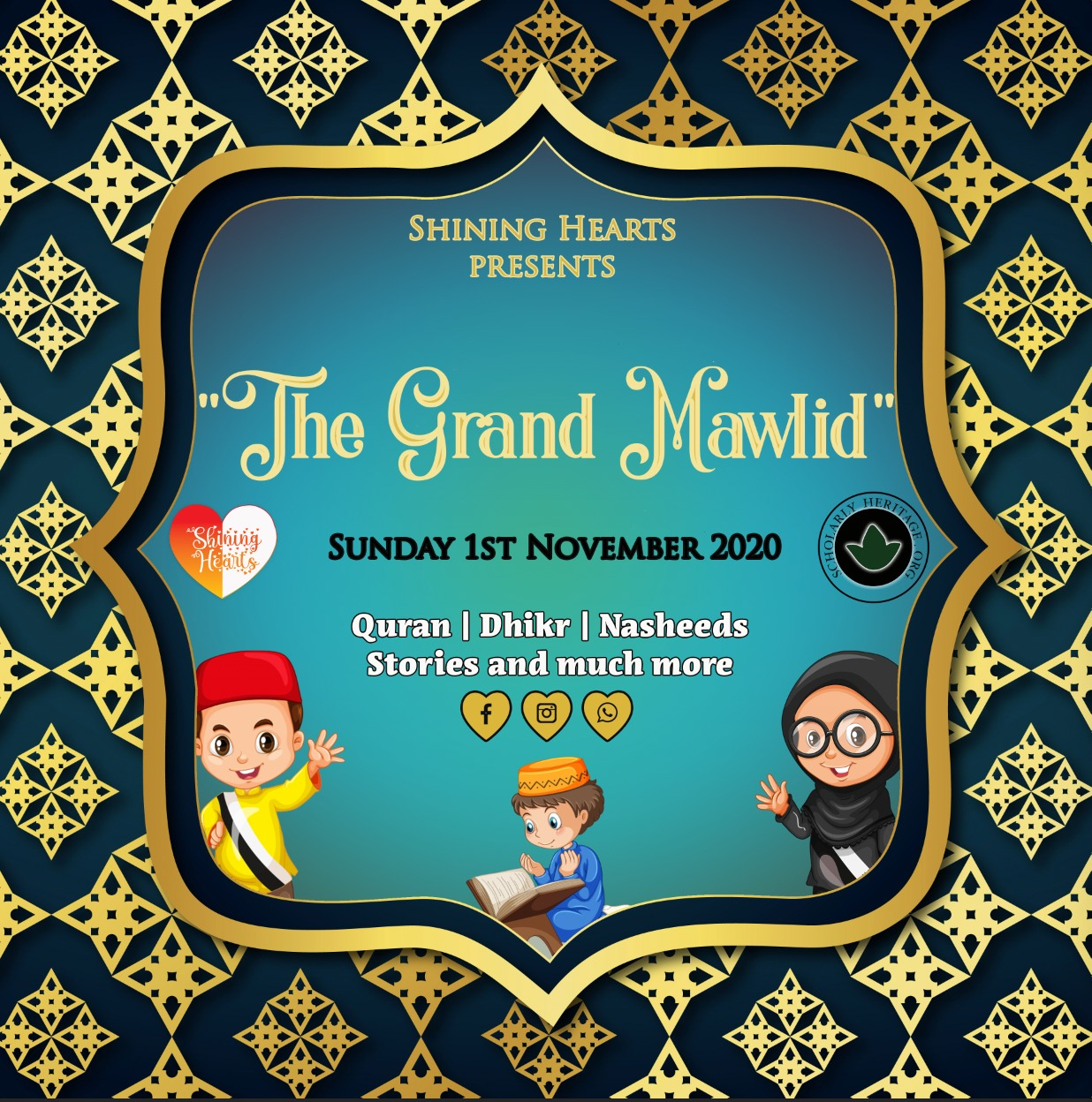 Shining Hearts: Mawlid and Fundraiser