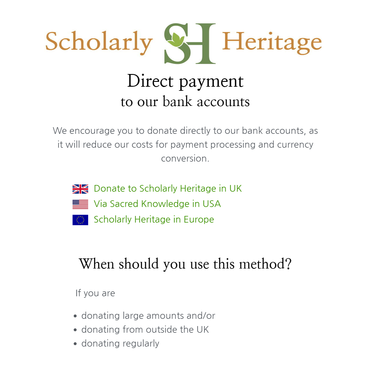 Read more about the article Donate: Direct Debit and Standing Orders