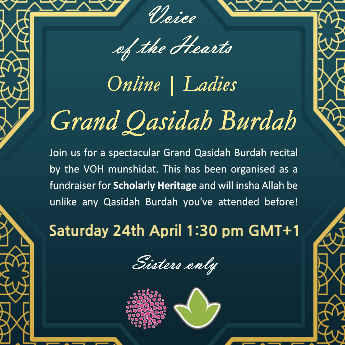 Voice of the Hearts Fundraiser: Grand Qasidah Burdah